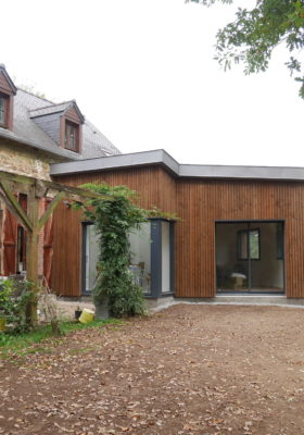 Rénovation extension bioclimatique d'une maison à Bohal