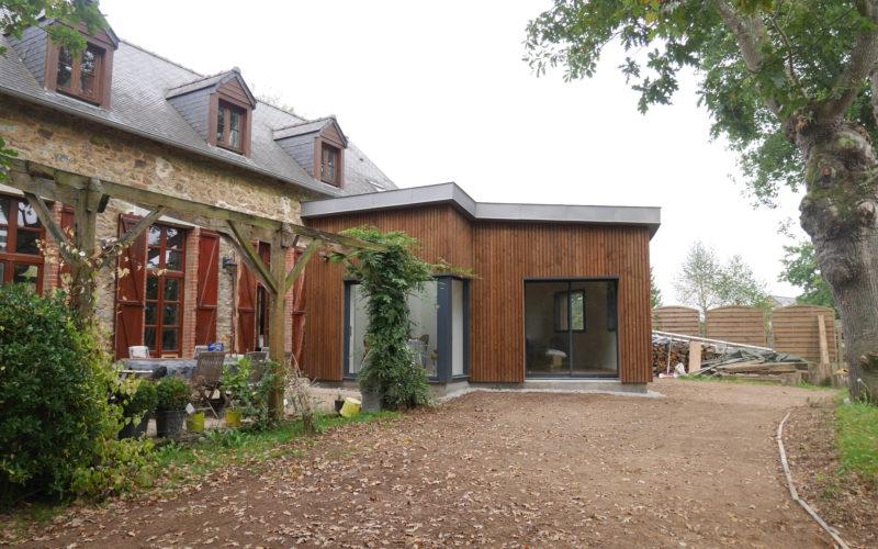 Rénovation extension bioclimatique d'une maison à Bohal