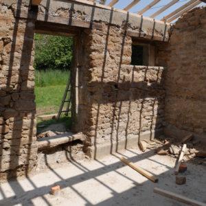 Pose d'une nouvelle charpente bois et d'une toiture