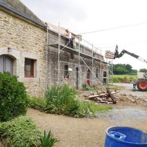 Nettoyage façade maison en pierre