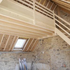 Nouvelles charpente et mezzanine bois