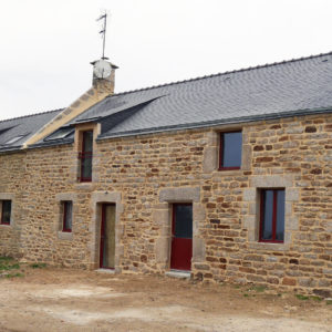 Rénovation d'une maison en pierre à Berric