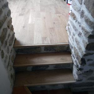 Nouveaux escaliers bois et pierre